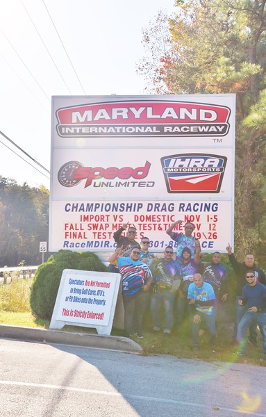 MARYLAND INTERNATIONAL RACEWAY<br /> These guys are from Aruba. ..I met them at VIRGINIA MOTORSPORTS PARK at the PDRA RACE in Oct.<br /> Sun was shining on my lens...