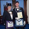 RW John E. Kelley Jr. DDGM 13th Masonic District and Mt. Horeb Lodge Rookie Award Recipient, Bro. Nicholas Bavusco.