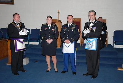 Bro Michael DeLuca and his wife Mallori DeLuca recieve Military Appreciation Citation at LOI Nov 1, 2010