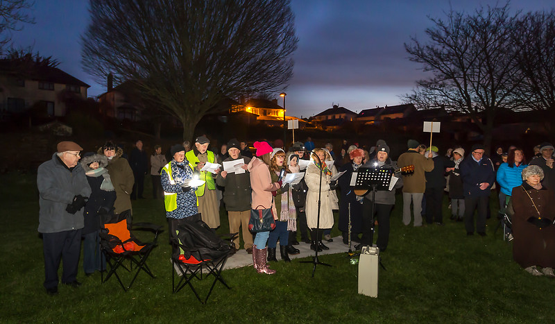EEjob 01/05/2018 SOCIAL  Outside Easter Sunday Mass at The Lough at dawn. The Mass was concelebrated before a large attendence by Fr. John Paul Hergarty,PP and Fr. Pat Nugent from the nearby Church of the Immaculate Conception. Picture: Andy Jay