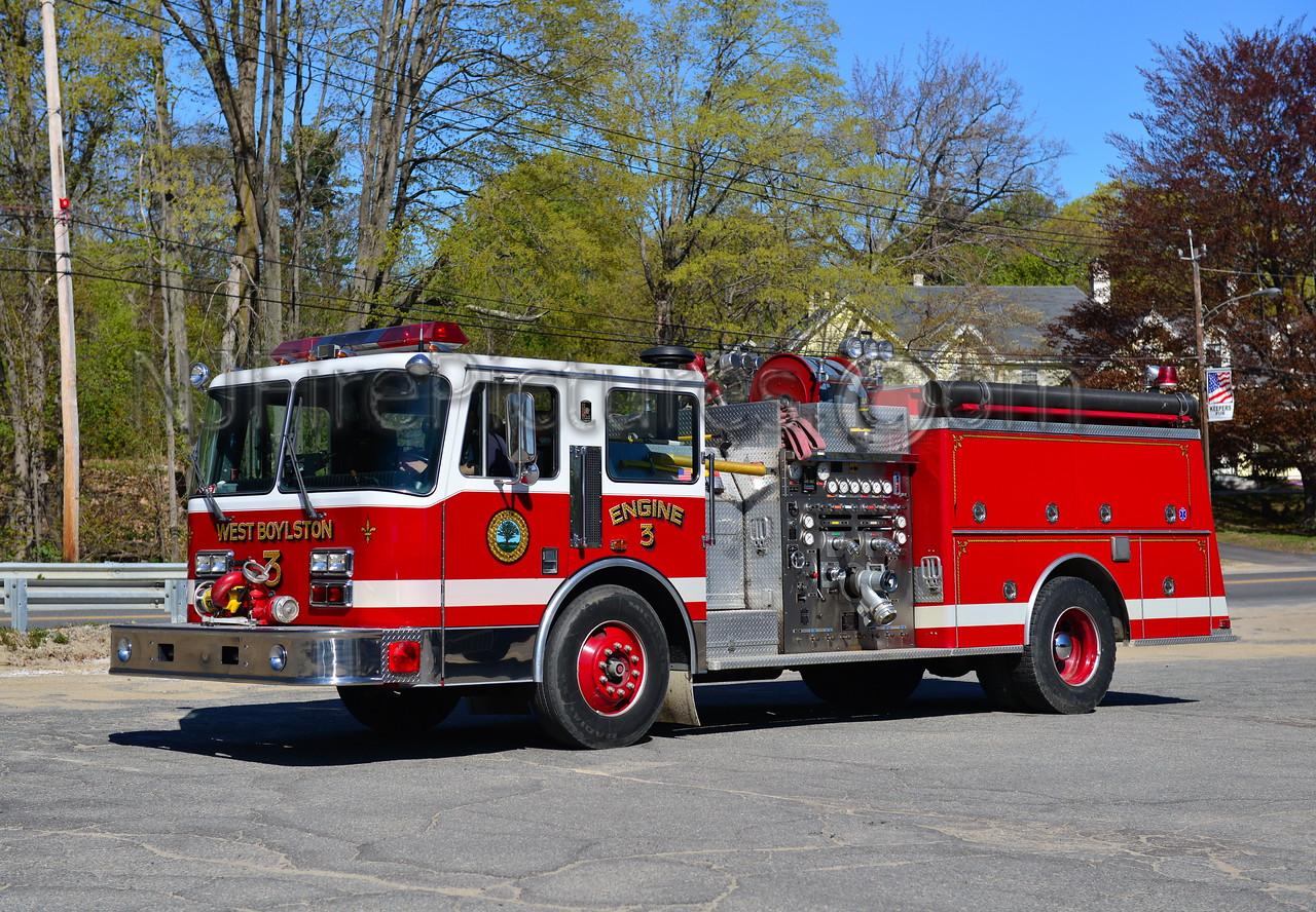 WEST BOYLSTON ENGINE 3 - 1991 KME 1500/750/35B