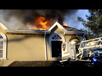 MASSAPEQUA FD HOUSE FIRE VIDEO