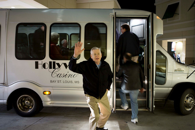 molis getting on bus