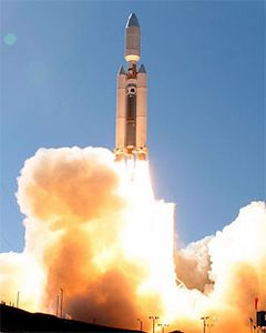 America's Titan 4 rocket made its final launch today, blasting off from California's Vandenberg Air Force Base to haul a top-secret reconnaissance satellite into orbit. Liftoff of the 368th and last Titan 4 occurred at 11:05 a.m. PDT October 19,2005 Vandenberg AFB, California. Gene Blevins/LA Daily news