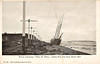 1898 - 11/27 - November 27th - HENRY R.TILTON - 3-masted Schooner - 492GRT - 1875 Wilmington, Delaware - Caught in the Great Hurricane of November 1898 and wrecked on Stony Beach, Hull, Massachusetts. At about 0300 surfman Fernando Bearse, who was on patrol, spotted a schooner about a quarter mile from land directly in front of the Coast Guard station. With the surf pounding hard and the wind blowing strong it was decided against launching the surfboat. Around 0630 the HENRY R.TILTON had swept westward and was now within range of the Lyle gun. Captain James' first two shots were unsuccessful, but the third shot landed within reach of the crew on board who quickly secured the whip line to the foremast twenty feet above the deck. After bringing the first sailor ashore the rescuers realized that the ship was still drifting toward shore. After each transfer of a crewmen from ship to shore the rescuers had to reset the lines. The men handling the lines had to wade out into the water and were standing dangerously close to the breaking waves. From time to time the sea would engulf the men and equipment. It took over three hours with a mixed crew of U.S. Life-Saving men and Humane Society volunteers to bring all seven crew members of the ship to safety. Back at the Point Allerton Station, Louisa James and the wives of the other surfmen had lit a fire in the station's stove, laid out blankets, hot drinks and cared for the surviving crew of the schooner. Note the damage to the electric tramline and the inaccuracies in the picture captions.