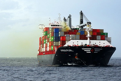 2021 - 05/20 - May 20th (1) - X-PRESS PEARL (Singapore) - Containership - 31629GRT/36150DWT - 186.0 x 34.8 - 2021 Zhoushan Changjong Shipyard, No.CHB084 (Super Eco 2700 Class) - Eos Ro Ltd - The ship departed the port of Hazira, India, on May 15th, 2021. The container vessel, which carried 1,486 containers, with contents including 25 tons of nitric acid, other chemicals, cosmetics and low-density polyethylene pellets, arrived in Colombo on May 19th. The ship was on the return leg of a 30-day round-trip voyage from Port Klang, Malaysia, to Qatar and Dubai. Sri Lankan officials believe the fire was caused by a nitric acid leak which the crew had been aware of since May 11th. The ship was carrying 25 tonnes of the highly corrosive acid, which can be used in the manufacture of fertilisers and explosives. The container ship was denied entry in the Hamad, Qatar, and Hazira, India, before entering Colombo. The ship reached Colombo on the night of May 19th and was anchored in the outer harbor awaiting a berth. The ship did not declare an emergency for the cargo acid leak. On May 20th the ship's agents requested a re-working of the container. The vessel then issued its first report of a fire, which the crew had put out using its on-board system. Though initial reports linked the incident to leaking acid, Harbor Master De Silva said the fire had broken out in the number 2 hold of X-Press Pearl while the container was stacked on deck. On May 25th, a large explosion took place inside the vessel and all 25 crew members were evacuated safely from the vessel. The fire continued to blaze during May 25th, and by late afternoon containers were dropping off the vessel into the sea. The Sri Lanka Maritime Environmental Protection Authority (MEPA) declared a Tier II oil spill event from on-board bunkers as the blaze got worse. There were 378 tonnes of oil on board the vessel and about half could leak into the sea after the fire ended. Bad weather prevented the deployment of oil-containm