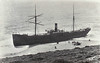 1890 - 04/21 - April 21st - BRANKELOW - 2531GRT - 1882 built - under charter to the Russian Government, with a cargo of coal, she ran aground at Gunwalloe in Mounts Bay. The vessel soon settled deep in to the sand. Salvage operations commenced but were abandoned on the 26th April. She subsequently broke up in a gale.
