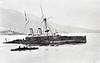 1892 - 02/11 - November 2nd - HMS HOWE - Admiral Class Battleship - 10300 tons - 99.0 x 21.0 - 1889 HM Dockyard, Pembroke - 4x13.5in., 6x6in., 5TT - 17 knots - 11/02/1892 ran around on Ferrol Rock off Ferrol, 30/03/1893 refloated, repaired, rejoined Mediterranean Fleet, late 1896 Guard Ship, Queenstown, 10/01 to Reserve, 1910 sold for breaking.