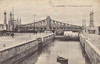 BELGIUM - OSTENDE - The Leopold Bridge and the entrance locks to the canal system, seen here I think before World War 1.