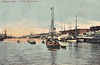 ARGENTINA - BUENOS AIRES - The harbour is full of shipping, with what looks like a Lamport & Holt Line passenger/cargo steamer on the right - posted March 10th, 1914.
