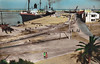 ALGERIA - PHILIPPEVILLE - nowadays known as Skikda, this rather curiously hand-coloured picture of the port was taken in the 1960's.