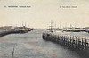 BELGIUM - OSTENDE - The Outer Port - I think this view is looking seawards from the road swingbridge as I think the railway station is to the extreme left. Note the number of large paddle steamers in port - posted September 10th, 1907.