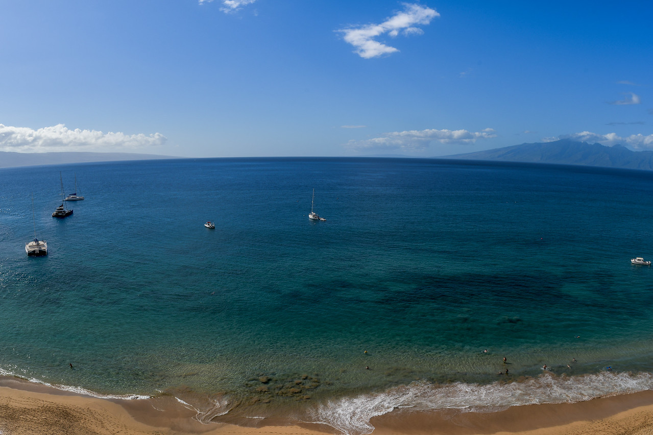 FISHEYE VIEW MOLOKAI AND LANAI