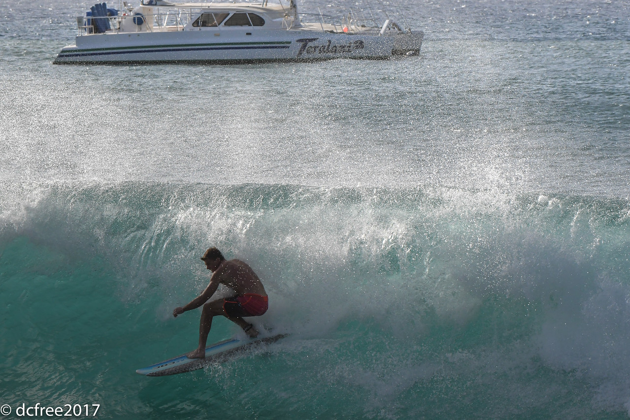 SURFING KAANAPALI BEACH