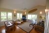 Living room, dining table & TV corner