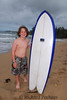 Toby with short board