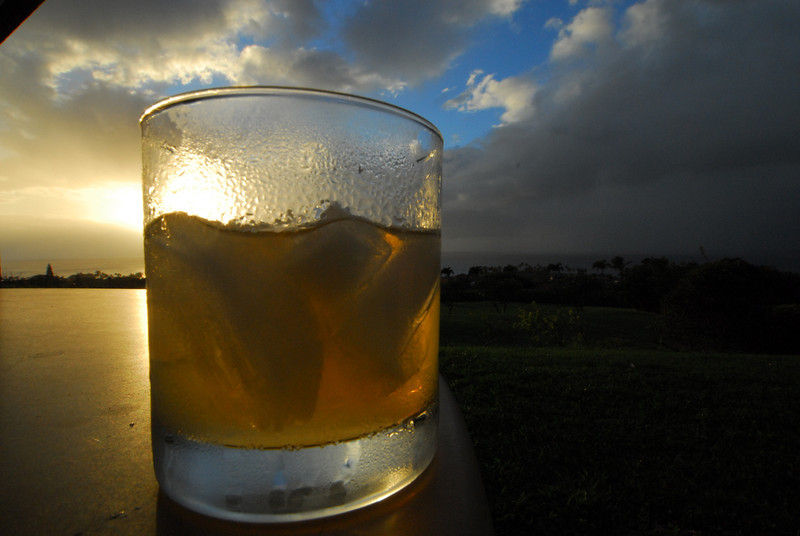 mai tai at sunset