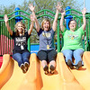 Kevin Harvison | Staff photo<br /> Emerson Elementary first grade teachers pictured from left, Jolene Waller, Mindi Harvison and Virginia Mayhew enjoy a recent outing at Chadick Park.