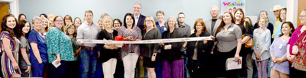 Kevin Harvison | Staff photo<br /> Several people showed up for the Caring Hands Healthcare Centers open house and ribbon cutting ceremony Thursday afternoon.