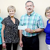 Kevin Harvison | Staff photo<br /> Beta Iota of McAlester presented the Youth Emergency Shelter for McAlester and Eufaula with a donation. Pictured from left is Ann Ownes, Betty Balkman, Greg Contreras, Y.E.S. and June Miller.