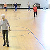 Kevin Harvison | Staff photo<br /> Ladies move to the music at St. John's Catholic Church during  a Line Dance Excersise class that takes place 9:30 to 11 a.m. at the church on Tuesday and the class is open to the public.
