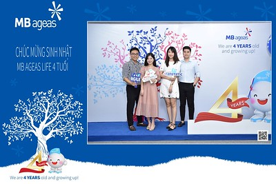 MB Ageas Life   4th Anniversary instant print photo booth in Hanoi   Chụp hình in ảnh lấy ngay Sự kiện tại Hà Nội   Photobooth Hanoi