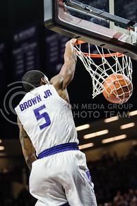 The Kansas State Wildcats face off against the Oklahoma Sooners at Bramlage Coliseum in Manhattan, KS, on Jan. 16, 2018. (Meg Shearer | Collegian Media Group)