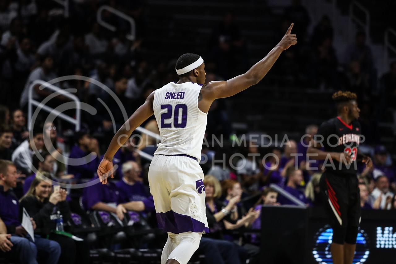Kansas State University plays Southeast Missouri State University in Men's Basketball at Bramlage Coliseum in Manhattan, Kansas on December 16, 2017. (Photo by Cooper Kinley   K-State Athletics / Collegian Media Group)