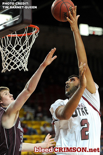 Sim Bhullar (2) scores two of his career-high 25 points