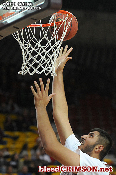 Sim Bhullar (2) puts up a shot