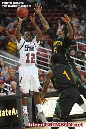 K.C. Ross-Miller (12) takes a shot