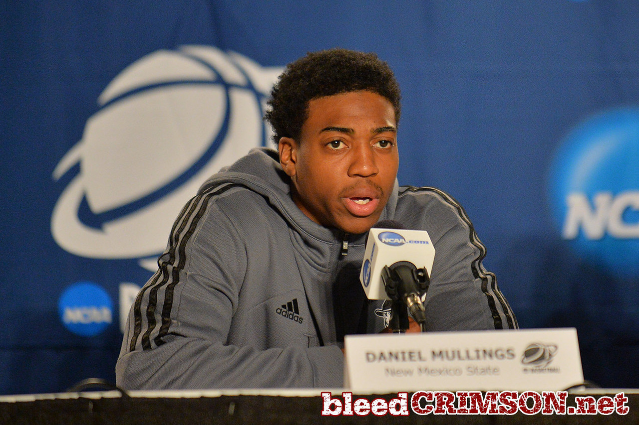 March 19, 2014: Daniel Mullings speaks with the media during the team's media conference at the 2014 NCAA Men's Basketball Championship Tournament.