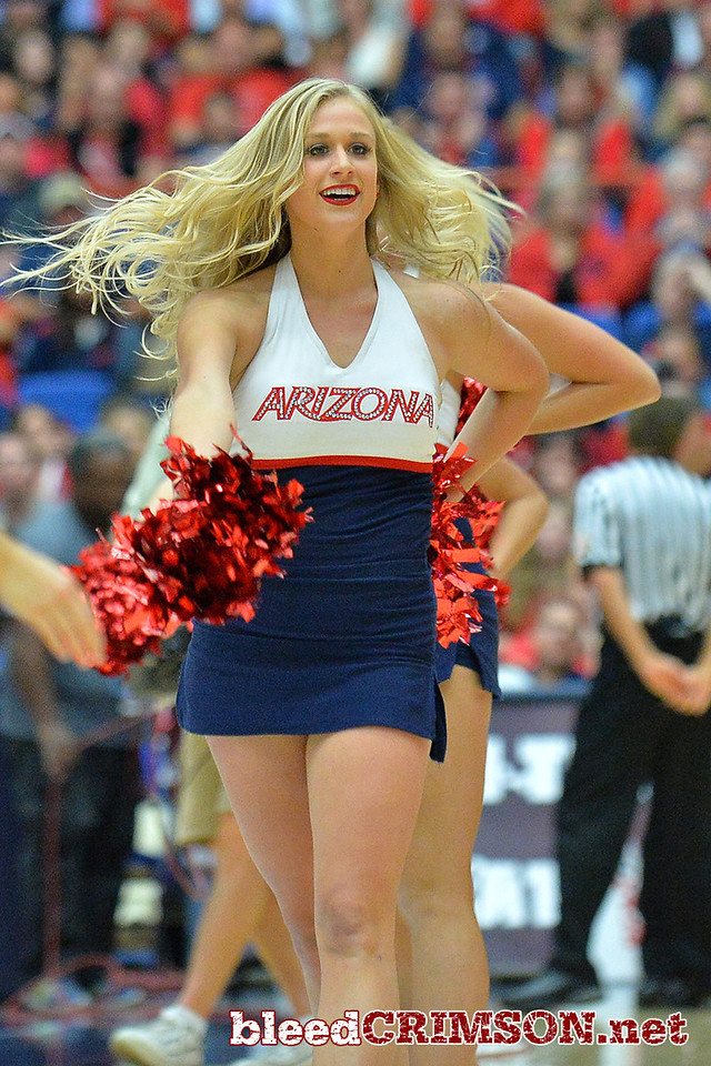 December 11, 2013: The Arizona Wildcats dance team performs in a timeout in a game between No. 1 Arizona and New Mexico State at McKale Center in Tucson, Ariz. Arizona defeated New Mexico State 74-48.