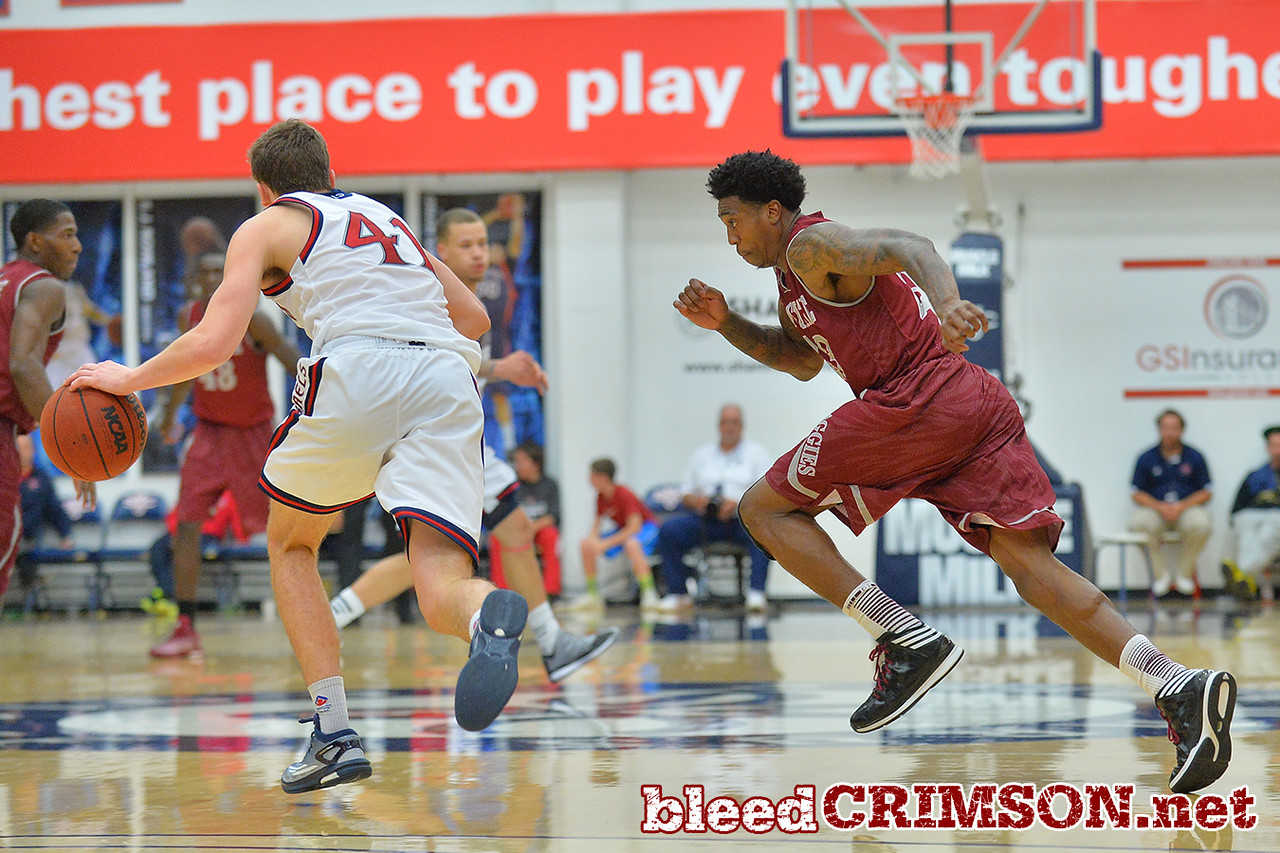 Nov. 18, 2014: New Mexico State Aggies guard Daniel Mullings (23) chases St. Mary's Gaels guard Emmett Naar (41) during a game between New Mexico State vs. St. Mary's College in Moraga, Calif. in the ESPN College Hoops Tipoff Marathon. Saint Mary's defeated New Mexico State 83-71.