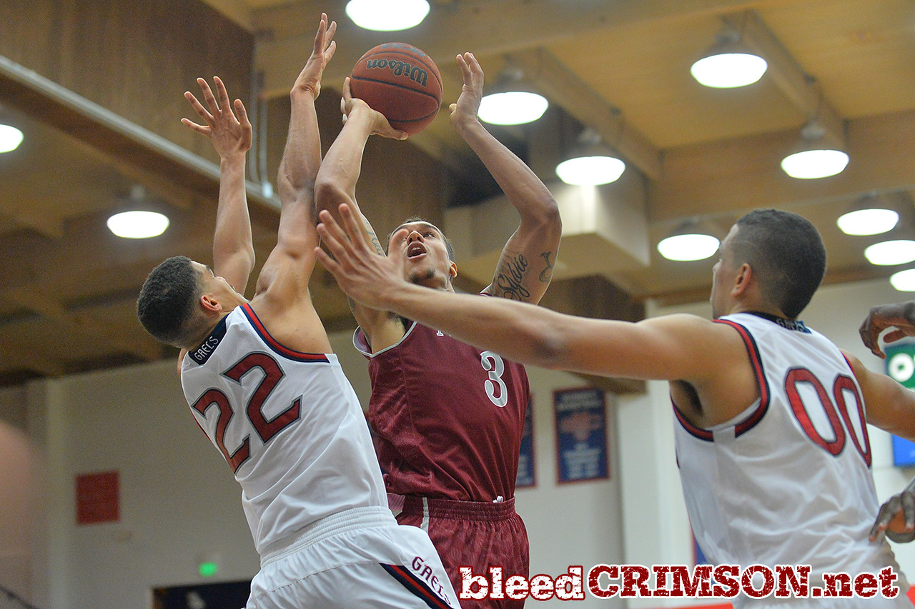 Nov. 18, 2014: New Mexico State Aggies forward Remi Barry (3) puts up a shot over St. Mary's Gaels forward Garrett Jackson (22) during a game between New Mexico State vs. St. Mary's College in Moraga, Calif. in the ESPN College Hoops Tipoff Marathon. Saint Mary's defeated New Mexico State 83-71.