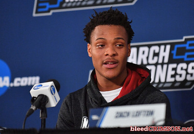 SAN DIEGO, CA - MARCH 15:  Jemerrio Jones #10 of the New Mexico State Aggies addresses the media during media day of the Men's NCAA Basketball Tournament - San Diego - Practice Sessions at Viejas Arena in San Diego, California.  (Photo by Sam Wasson/bleedCrimson.net)