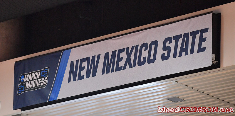 SAN DIEGO, CA - MARCH 15:  A banner is displayed during the open practice session during media day of the Men's NCAA Basketball Tournament - San Diego - Practice Sessions at Viejas Arena in San Diego, California.  (Photo by Sam Wasson/bleedCrimson.net)
