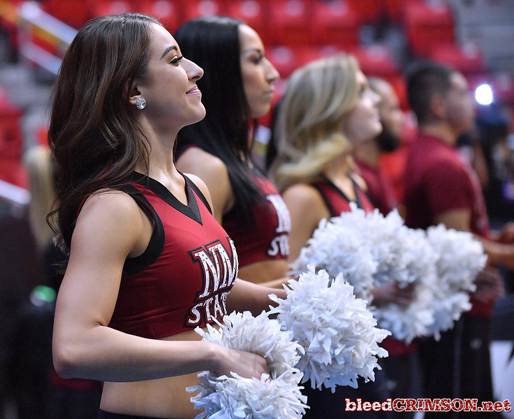SAN DIEGO, CA - MARCH 15:  New Mexico State Aggies Sundancers perform during the open practice session during media day of the Men's NCAA Basketball Tournament - San Diego - Practice Sessions at Viejas Arena in San Diego, California.  (Photo by Sam Wasson/bleedCrimson.net)