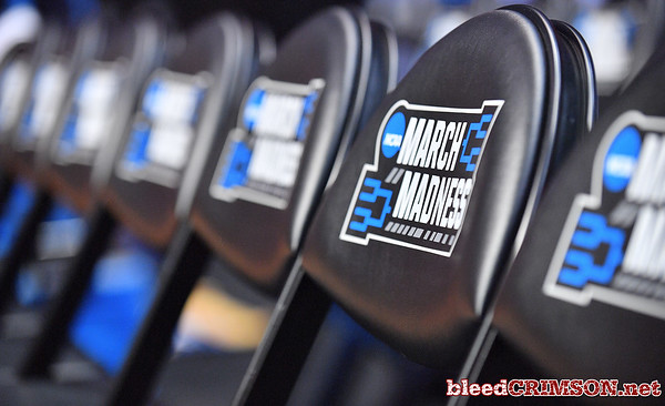 SAN DIEGO, CA - MARCH 15:  NCAA chairs are shown during the open practice session during media day of the Men's NCAA Basketball Tournament - San Diego - Practice Sessions at Viejas Arena in San Diego, California.  (Photo by Sam Wasson/bleedCrimson.net)