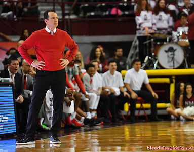 LAS CRUCES, NEW MEXICO - NOVEMBER 20, 2019:  Head coach Paul Weir of the New Mexico Lobos looks on during his team's game against the New Mexico State Aggies at The Pan American Center on November 20, 2019 in Las Cruces, New Mexico. The Lobos defeated the Aggies 78-77.  (Photo by Sam Wasson/bleedCrimson.net)