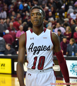 LAS CRUCES, NEW MEXICO - NOVEMBER 21, 2019:  Jabari Rice #10 of the New Mexico State Aggies walks off the court after his team's game against the New Mexico Lobos at The Pan American Center on November 21, 2019 in Las Cruces, New Mexico. The Lobos defeated the Aggies 78-77.  (Photo by Sam Wasson/bleedCrimson.net)