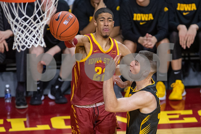 Scene from NCAA basketball game between Iowa and Iowa State at Hilton Coliseum in Ames, Iowa on December 12, 2019. Photo © Wesley Winterink.