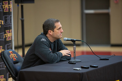 Scene from Media Day for Iowa State Mens Basketball on October 16, 2019. Photo © Wesley Winterink.