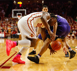 Scene from NCAA basketball game between Iowa State and TCU on February 18, 2017 at Hilton Coliseum in Ames, Iowa. Photo by Wesley Winterink.