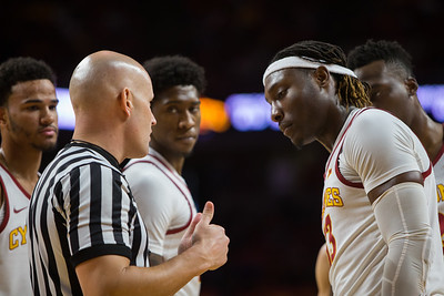 Scene from NCAA basketball game between Texas Tech and  Iowa State at Hilton Coliseum in Ames, Iowa on January 20, 2018. Photo by Wesley Winterink.