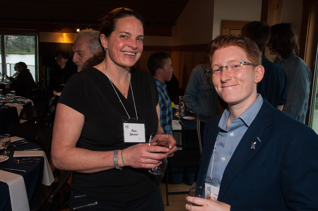 l-r Mara Barckert and Helen Tilghman at Reunion Reception