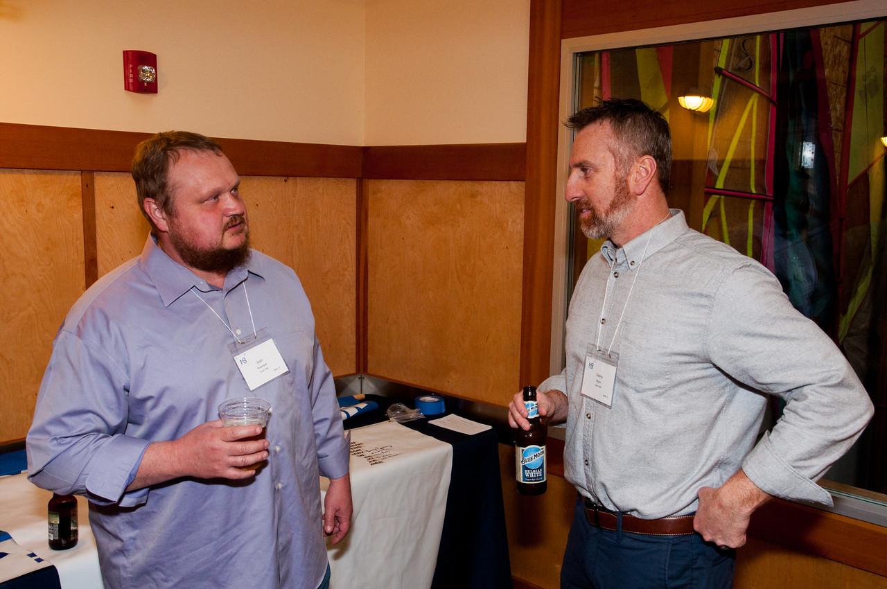 l-r Josh Koempel and Danny Bohm at the Reunion Reception