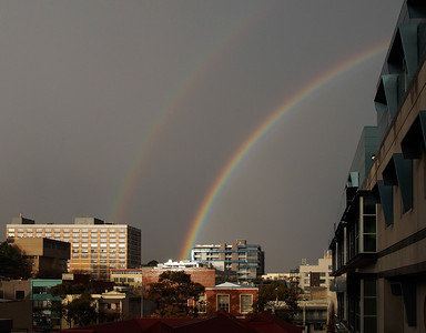 Double rainbow at Unimelb