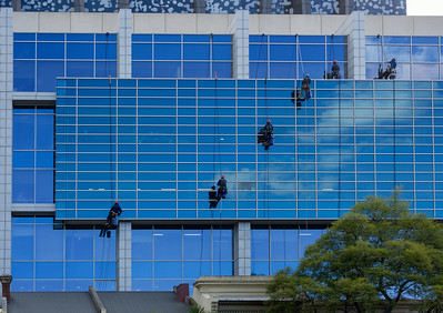 Window cleaning team at Unimelb