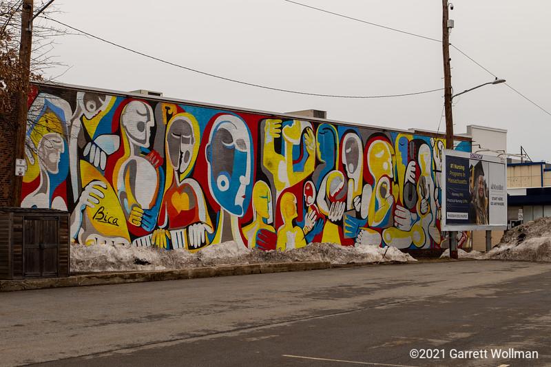 Framingham station mural